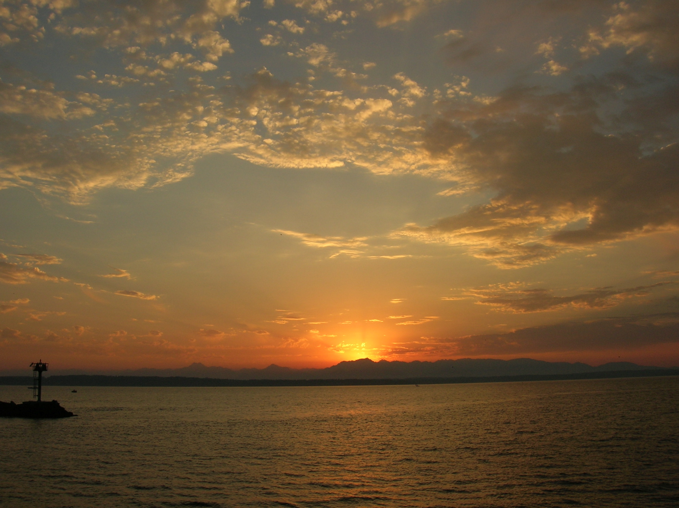 sunset on the seattle - photo #10