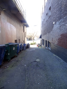Yes, it's down the alley.
