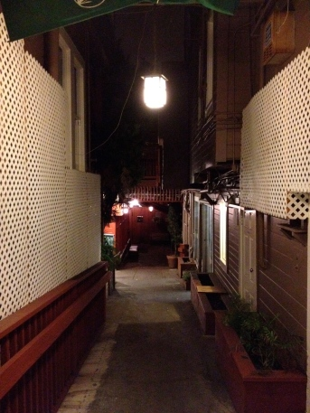 Yes, there's an awesome restaurant down the alley